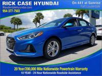 2018 Hyundai Sonata SEL  in Electric Blue and 20 year