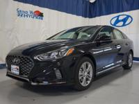 Black 2018 Hyundai Sonata Sport FWD 6-Speed Automatic