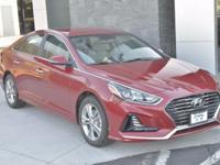 Red 2018 Hyundai Sonata SEL FWD 6-Speed Automatic with