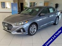 Machine Gray 2018 Hyundai Sonata Limited 2.0T FWD