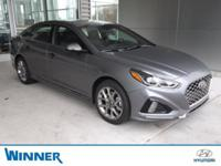Machine Gray 2018 Hyundai Sonata Sport FWD 8-Speed