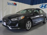 Black 2018 Hyundai Sonata Sport FWD 6-Speed Automatic