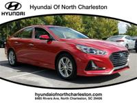 Scarlet Red 2018 Hyundai Sonata Limited FWD 6-Speed