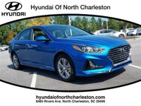 Electric Blue 2018 Hyundai Sonata FWD 6-Speed Automatic