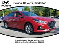 Scarlet Red 2018 Hyundai Sonata Sport FWD 6-Speed