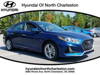 Blue 2018 Hyundai Sonata FWD 6-Speed Automatic with