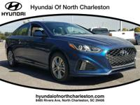 Blue 2018 Hyundai Sonata Sport FWD 6-Speed Automatic