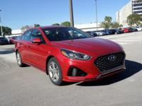 Red 2018 Hyundai Sonata Sport FWD 6-Speed Automatic