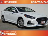 White Pearl 2018 Hyundai Sonata Limited FWD 6-Speed