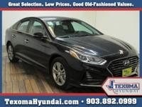 Black 2018 Hyundai Sonata SEL FWD 6-Speed Automatic