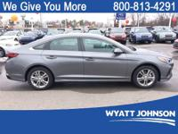 Gray 2018 Hyundai Sonata SEL FWD 6-Speed Automatic with