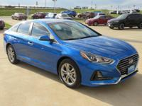 Electric Blue 2018 Hyundai Sonata SEL FWD 6-Speed