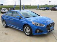 Electric Blue 2018 Hyundai Sonata Sport FWD 6-Speed