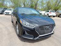 Black 2018 Hyundai Sonata FWD 6-Speed Automatic with
