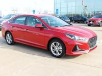 New Price! Scarlet Red 2018 Hyundai Sonata SEL FWD