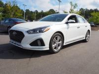 35/25 Highway/City MPG  White 2018 Hyundai Sonata