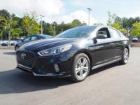 35/25 Highway/City MPG  Black 2018 Hyundai Sonata
