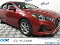 2018 Hyundai Sonata SEL 35/25 Highway/City MPG 17-Inch