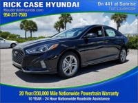 2018 Hyundai Sonata Sport  in Phantom Black and 20 year