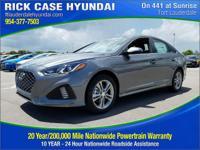 2018 Hyundai Sonata Sport  in Machine Gray and 20 year