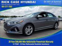 2018 Hyundai Sonata Sport  in Machine Gray and 20 year
