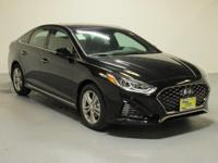 Black 2018 Hyundai Sonata Sport+ FWD 6-Speed Automatic