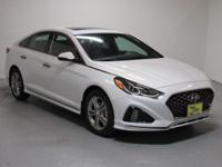 White 2018 Hyundai Sonata Sport+ FWD 6-Speed Automatic