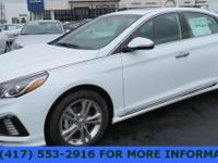 Black Leather. Quartz White Pearl 2018 Hyundai Sonata