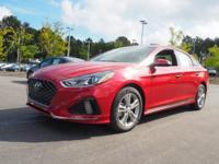 35/25 Highway/City MPG  Red 2018 Hyundai Sonata Sport+