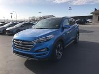 Caribbean Blue 2018 Hyundai Tucson Limited AWD 7-Speed