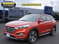 Orange 2018 Hyundai Tucson Limited H20516 AWD 7-Speed