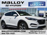 Recent Arrival! AWD.  White 2018 Hyundai Tucson Value