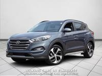 Certified. 2018 Hyundai Tucson Coliseum Gray Limited