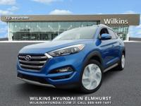 Aqua Blue 2018 Hyundai Tucson Limited AWD 7-Speed