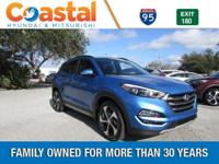 Blue 2018 Hyundai Tucson Limited FWD 7-Speed Automatic