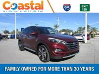 Red 2018 Hyundai Tucson Limited FWD 7-Speed Automatic