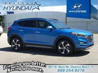 Caribbean Blue 2018 Hyundai Tucson Limited FWD 7-Speed