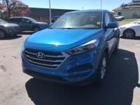 Aqua Blue 2018 Hyundai Tucson SE AWD 6-Speed Automatic