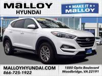Clean CARFAX. White 2018 Hyundai Tucson SEL AWD 6-Speed