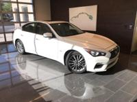 Clean CARFAX. Certified. Majestic White 2018 INFINITI