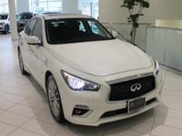 JUST IN!!  2018 INFINITI Q50 3.0t LUXE, Majestic White