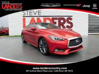 Clean CARFAX. Dynamic Sunstone Red 2018 INFINITI Q60