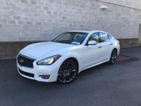 Certified. Majestic White 2018 INFINITI Q70 3.7 LUXE