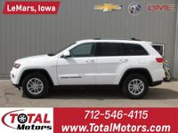 1 OWNER, 2018 JEEP GRAND CHEROKEE, LAREDO PACKAGE, 3.6L