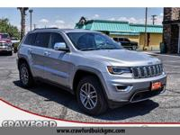 Clean CARFAX. Gray 2018 Jeep Grand Cherokee Limited RWD