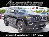 4WD. Diamond Black 2018 Jeep Grand Cherokee Limited 4WD