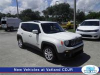 This Jeep Renegade in Alpine white is an excellent