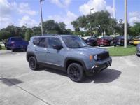 This Jeep Renegade sport Upland 4x4 in an anvil grey is