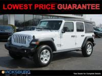 2018 Jeep Wrangler Unlimited Sport S ABS brakes,