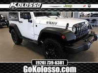 2018 Jeep Wrangler JK Bright White Clearcoat Willys
